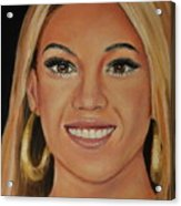 Beyonce Celebrity Painting Acrylic Print