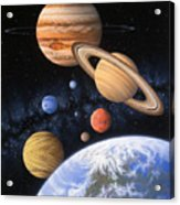 Beyond The Home Planet Acrylic Print by Lynette Cook