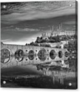 Beziers Cathedral Acrylic Print by Photograph by Paul Atkinson