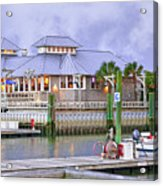 Bhi Marina Purple Hue Evening Acrylic Print