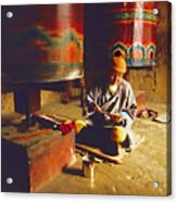 Bhutan Pilgrim Acrylic Print
