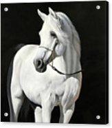Bianco Su Nero Acrylic Print