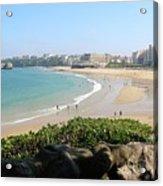 Biarritz Beach Panorama Acrylic Print