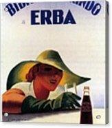 Bibita Tamarindo - Erba - Vintage Drink Advertising Poster Acrylic Print