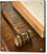 Bible And Gavel Acrylic Print