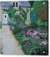 Bibury Garden Path Acrylic Print