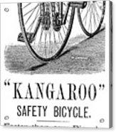 Bicycle Ad, 1885 Acrylic Print