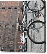 Bicycle And Building Acrylic Print