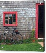 Bicycle At Barn Acrylic Print