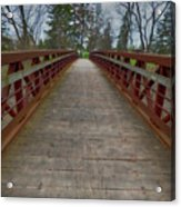 Bicycle Bridge - Niagara On The Lake Acrylic Print