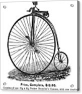 Bicycle Camera Ad, 1887 Acrylic Print by Granger