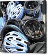 Bicycle Helmets Acrylic Print by Photostock-israel