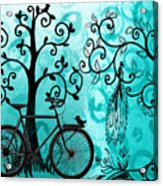 Bicycle In Whimsical Forest Acrylic Print