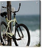 Bicycle On The Beach Acrylic Print by Julie Niemela