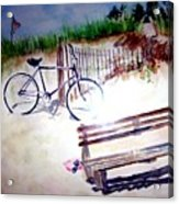 Bicycle On The Beach Acrylic Print