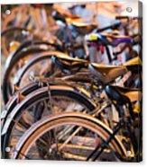 Bicycle Park Acrylic Print