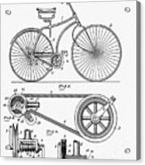 Bicycle Patent 1890 Acrylic Print