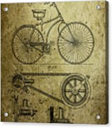 Bicycle Patent  1890 Acrylic Print