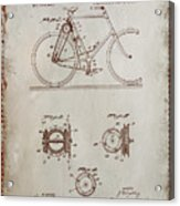 Bicycle Patent Drawing 4a Acrylic Print