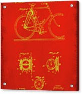 Bicycle Patent Drawing 4c Acrylic Print