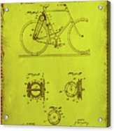 Bicycle Patent Drawing 4d Acrylic Print