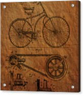 Bicycle Patent From 1890 Acrylic Print