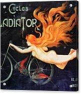 Bicycle Poster, C1905 Acrylic Print