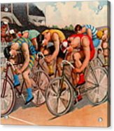 Bicycle Race 1895 Acrylic Print