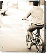 Bicycle Rider Acrylic Print