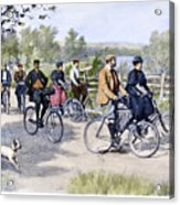 Bicycle Tourists, 1896 Acrylic Print by Granger