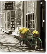 Bicycle With Flowers - Nantucket Acrylic Print