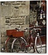 Bicycles  Dinan  France Acrylic Print