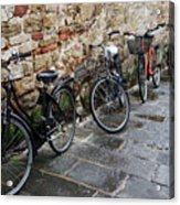 Bicycles In Rome Acrylic Print