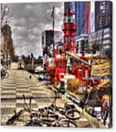 Bicycles In Rotterdam, Netherlands Acrylic Print