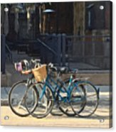 Bicycles On Main Street Acrylic Print