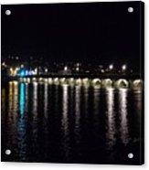 Bideford Long Bridge At Night Acrylic Print