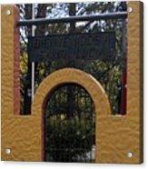 Bienvenidos A Santa Lucia Acrylic Print