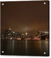 Big Apple Lights Acrylic Print