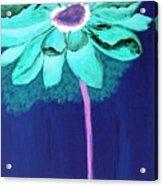 Big Aqua Flower Acrylic Print