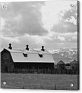Big Barn In Black And White Acrylic Print