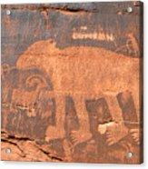 Big Bear Petroglyph Acrylic Print