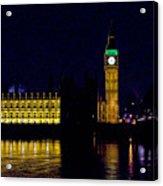 Big Ben Along The Thames Acrylic Print