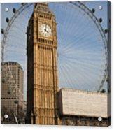 Big Ben And Eye Acrylic Print by Donald Davis