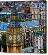 Big Ben And Westminster Abbey Acrylic Print
