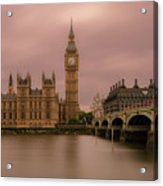 Big Ben And Westminster Bridge, London Acrylic Print