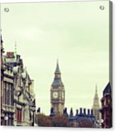 Big Ben As Seen From Trafalgar Square, London Acrylic Print by Image - Natasha Maiolo