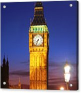 Big Ben At Night Acrylic Print by Dan Breckwoldt