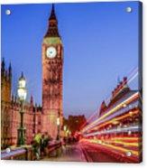 Big Ben By Night Acrylic Print