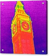 Big Ben, Uk, Thermogram Acrylic Print by Tony Mcconnell