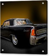 Big Black Lincoln Rag Top Acrylic Print
